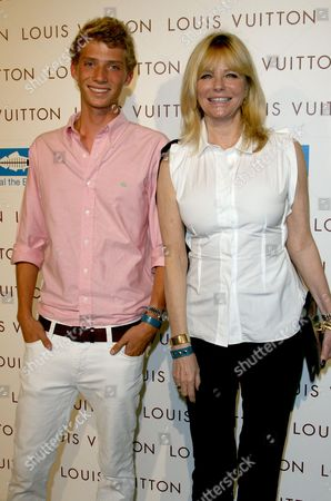 Stock Image of Cheryl Tiegs and son Zack Peck