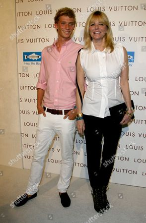 Stock Picture of Cheryl Tiegs and son Zack Peck