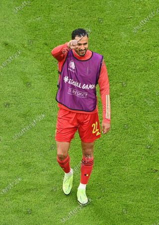 Stock Photo of Nacer Chadli of Belgium reacts before the UEFA EURO 2020 quarter final match between Belgium and Italy in Munich, Germany, 02 July 2021.
