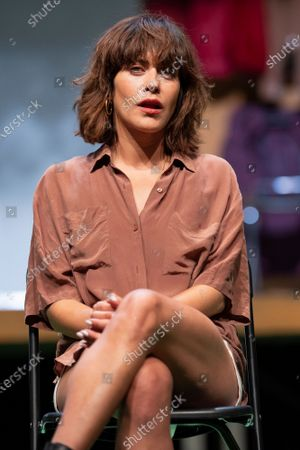 Actress Maria Leon during a press conference on La Pasion de Yerma at the theaters del canal in Madrid.