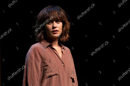 Stock Picture of Actress Maria Leon during a press conference on La Pasion de Yerma at the theaters del canal in Madrid.