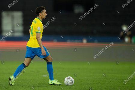 Marquinhos of Brazil; Nilton Santos Stadium, Rio de Janeiro, Brazil; Copa America, Brazil versus Chile.
