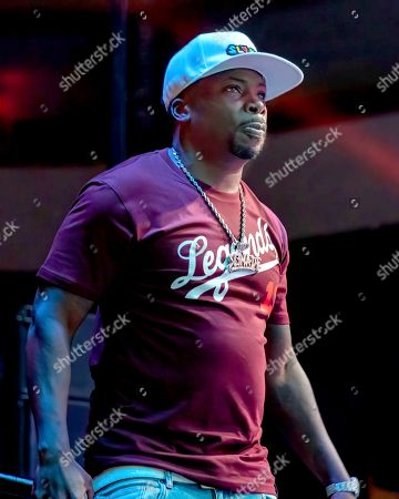 """Rapper Lil' Keke performs in concert during """" Snoop Dogg VS DJ Snoopadelic"""" at the H-E-B Center"""