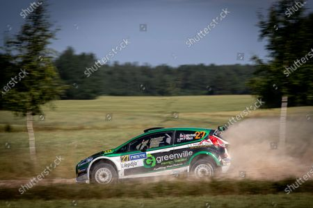 Stock Picture of 27 MITCHELL Jason (IRL), WARD Peter (GBR), Jason MITCHELL, Ford Fiesta, action