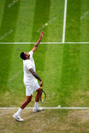 Stock Image of Nick Kyrgios during his third round match
