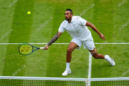 Nick Kyrgios during his third round match