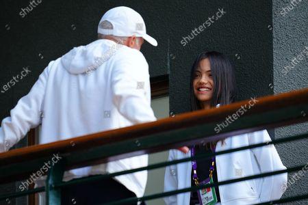 Emma Raducanu with coach Nigel Sears