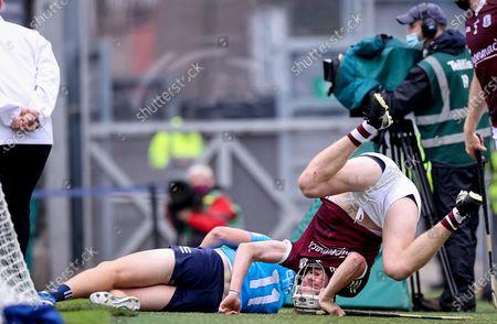 Galway vs Dublin. Galway's Darren Morrissey with Donal Burke of Dublin