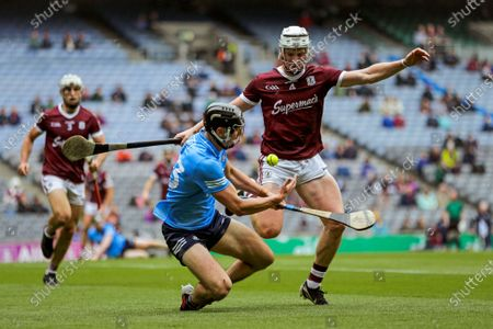 Galway vs Dublin. Dublin's Cian Boland and Darren Morrissey of Galway