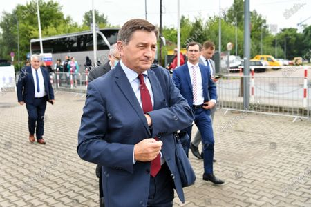 Member of the Law and Justice party (PiS) Marek Kuchcinski arrives for the Law and Justice party's congress at the EXPO XXI Center in Warsaw, Poland, 03 July 2021. The ruling conservative party's members convene to elect its party leader. It is widely expected Jaroslaw Kaczynski will continue in this role.