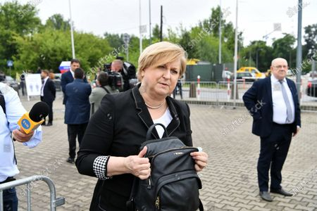 Member of the Law and Justice party (PiS) Anna Fotyga arrives for the Law and Justice party's congress at the EXPO XXI Center in Warsaw, Poland, 03 July 2021. The ruling conservative party's members convene to elect its party leader. It is widely expected Jaroslaw Kaczynski will continue in this role.