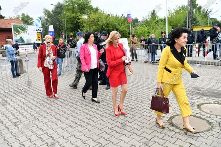 Members of the Law and Justice Paryy (PiS) arrive for the Law and Justice party's congress at the EXPO XXI Center in Warsaw, Poland, 03 July 2021. The ruling conservative party's members convene to elect its party leader. It is widely expected Jaroslaw Kaczynski will continue in this role.