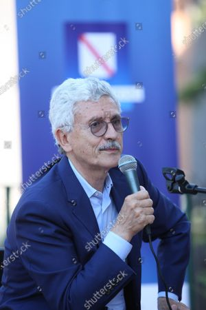 Stock Image of Massimo D'Alema, Italian politician and journalist guest in Naples at the NapoliCittàLibro.