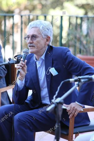 Stock Picture of Massimo D'Alema, Italian politician and journalist guest in Naples at the NapoliCittàLibro.