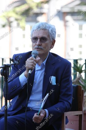Stock Photo of Massimo D'Alema, Italian politician and journalist guest in Naples at the NapoliCittàLibro.