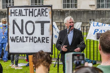 Editorial photo of NHS 73rd Birthday Protest for NHS pay justice, Patient Safety and an End to Privatisation., Euston, London, UK - 03 Jul 2021