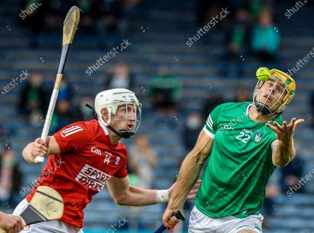 Limerick vs Cork. Limerick's Dan Morrissey and Patrick Horgan of Cork