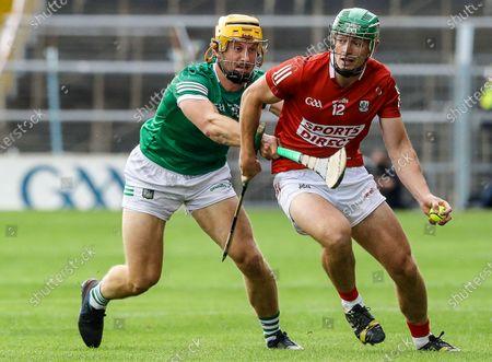 Limerick vs Cork. Limerick's Tom Morrissey and Robbie O'Flynn of Cork