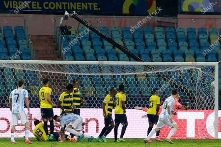 Editorial picture of Argentina v Ecuador, Copa América, Quarter-final, Football, Estádio Olimpico Pedro Ludovico, Goiânia, Brazil - 03 Jul 2021