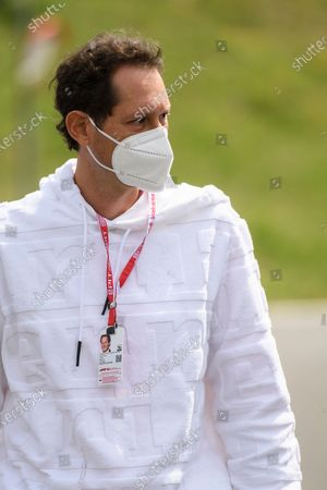 Fiat Chrysler Automobiles (FCA) Chairman John Elkann arrives for the Formula One Grand Prix of Austria at the Red Bull Ring in Spielberg, Austria, 04 July 2021.