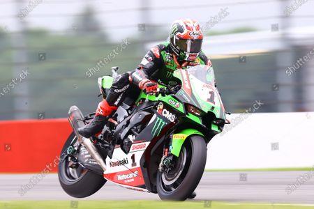 DONINGTON PARK, UNITED KINGDOM - JULY 04: Jonathan Rea, Kawasaki Racing Team WorldSBK at Donington Park on Sunday July 04, 2021 in Castle Donington, United Kingdom. (Photo by Gold and Goose / LAT Images)
