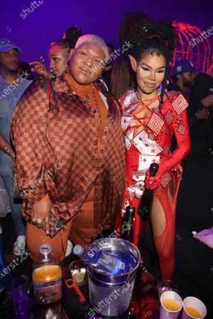 Stacy Barthe and Teyana Taylor at Prettylittlething Madhouse at Wisdome in Los Angeles, California on July 3, 2021.