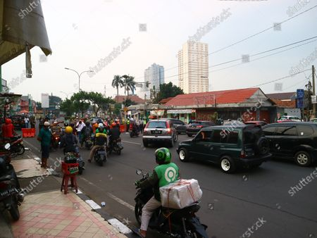 Editorial picture of PPKM Depok, West Java, Indonesia - 04 Jul 2021