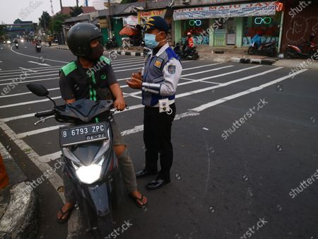 Editorial image of PPKM Depok, West Java, Indonesia - 04 Jul 2021