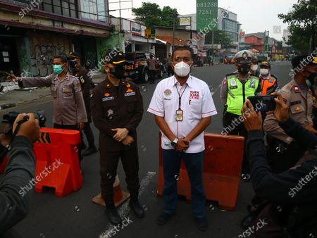 Editorial photo of PPKM Depok, West Java, Indonesia - 04 Jul 2021