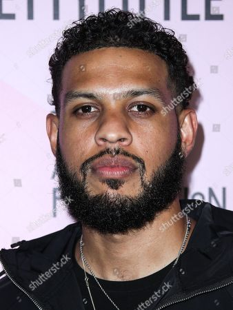 Stock Image of Actor Sarunas J. Jackson arrives at PrettyLittleThing Madhouse Presented By Teyana Taylor held at WISDOME