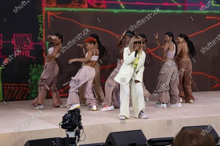 Stock Image of M.I.A. performing at Off-White for Virgil AbloH