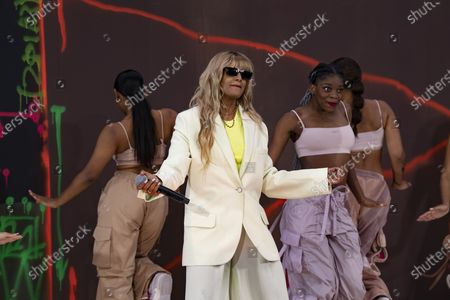 Stock Picture of M.I.A. performing at Off-White for Virgil AbloH