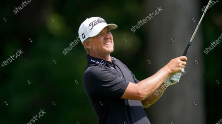 Stock Picture of Matt Jones plays during the final round of the Rocket Mortgage Classic golf tournament, at the Detroit Golf Club in Detroit