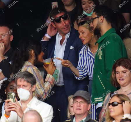 Sienna Miller, Maya Jama and Ben Simmons in the crowd on Centre Court