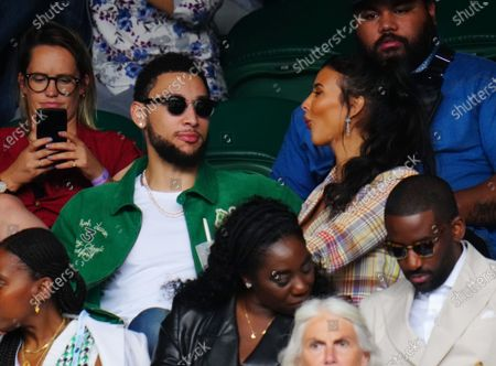 Maya Jama and Ben Simmons in the crowd on Centre Court