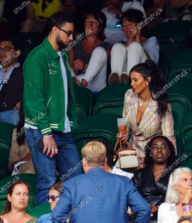 Stock Picture of Maya Jama and Ben Simmons in the crowd on Centre Court