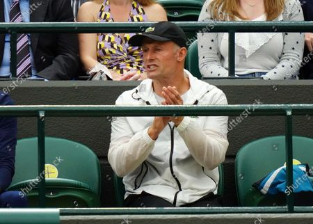 Stock Picture of Emma Raducanu's coach Nigel Sears during her fourth round match