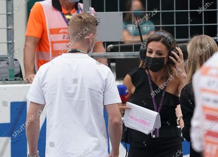 """British Formula 1 reporter Natalie Pinkham confuses German footballer Timo Werner and introduces him as """"Chelsea and Germany goalkeeper"""""""