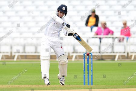 Stock Photo of Michael Cohen of Derbyshire during the LV= Insurance County Championship match between Nottinghamshire County Cricket Club and Derbyshire County Cricket Club at Trent Bridge, Nottingham