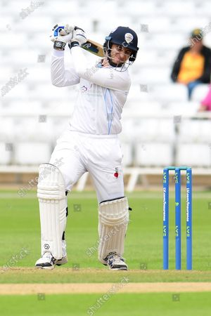 Michael Cohen of Derbyshire during the LV= Insurance County Championship match between Nottinghamshire County Cricket Club and Derbyshire County Cricket Club at Trent Bridge, Nottingham