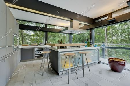 Kitchen/breakfast room.   The UK home of Hollywood actor Antonio Banderas is on the market for £2.95m.  The Mask of Zorro star moved from LA to Cobham in Surrey in 2015 with girlfriend Nicole Kimpel after splitting from his wife of 20 years Melanie Griffiths.  They are now selling their home to spend more time in Banderas' native Malaga, where he has bought and built a theatre.