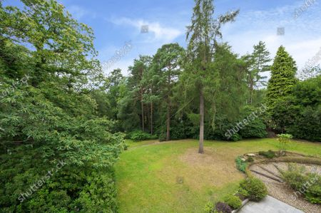 Garden.   The UK home of Hollywood actor Antonio Banderas is on the market for £2.95m.  The Mask of Zorro star moved from LA to Cobham in Surrey in 2015 with girlfriend Nicole Kimpel after splitting from his wife of 20 years Melanie Griffiths.  They are now selling their home to spend more time in Banderas' native Malaga, where he has bought and built a theatre.