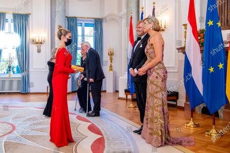 King Willem-Alexander and Queen Maxima of the Netherlands with Sylvie Meis