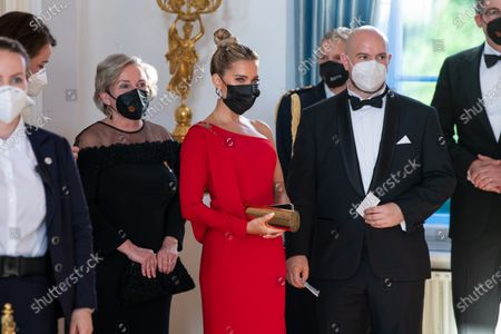 Sylvie Meis during State Banquet at Bellevue Palace, on the first of the 3 day state visit of the Dutch Royals to Germany.