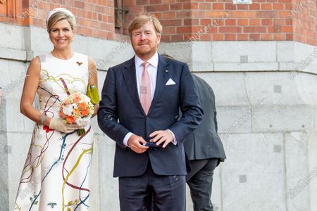King Willem-Alexander and Queen Maxima of the Netherlands during the meeting with Mayor of Berlin Michael Muller at Rotes Rathaus in Berlin, on the first of the 3 day state visit of the Dutch Royals to Germany.