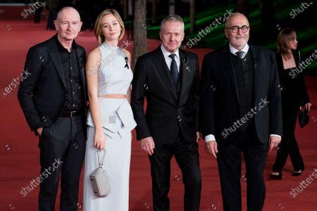 Cinematographer Pawel Edelman, actors Zofia Wichlacz, Boguslaw Linda and producer Michal Kwiecinski