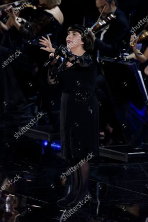 Mireille Mathieu performs at the Paul VI Hall during Vatican annual Christmas Concert on December 14, 2019 in Vatican City, Vatican.