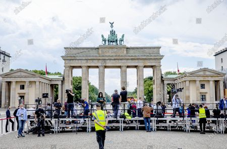 Editorial image of King Willem-Alexander and Queen Maxima visit to Germany, Berlin, Germany - 05 Jul 2021