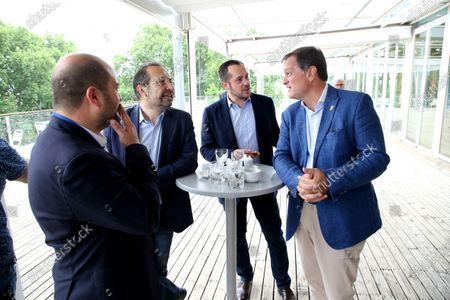 Stock Photo of David Rachline, Sebastien Chenu and Nicolas Bay, Louis Aliot.