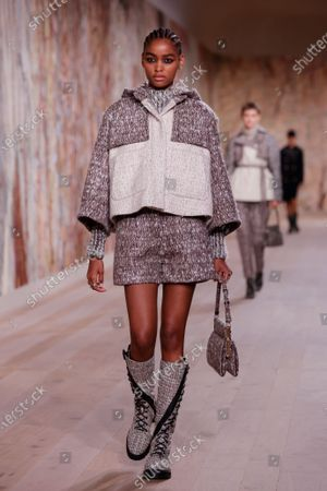 Models present creations from the Fall/Winter 2021/2022 Haute Couture collection by Italian designer Maria Grazia Chiuri for Dior fashion house during the Paris Fashion Week in Paris, France, 05 July 2021. The presentation of the Haute Couture collections runs from 05 to 08 July.